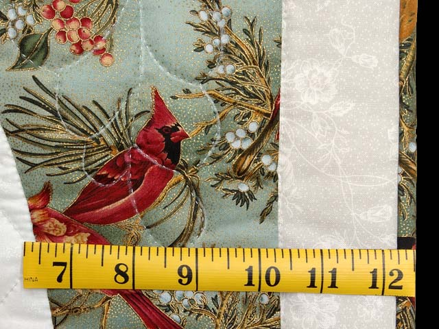 Frosty Teal Christmas Cardinals Applique Wall Hanging Photo 5