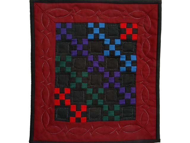 Mini Amish Nine Patch Quilt Photo 1