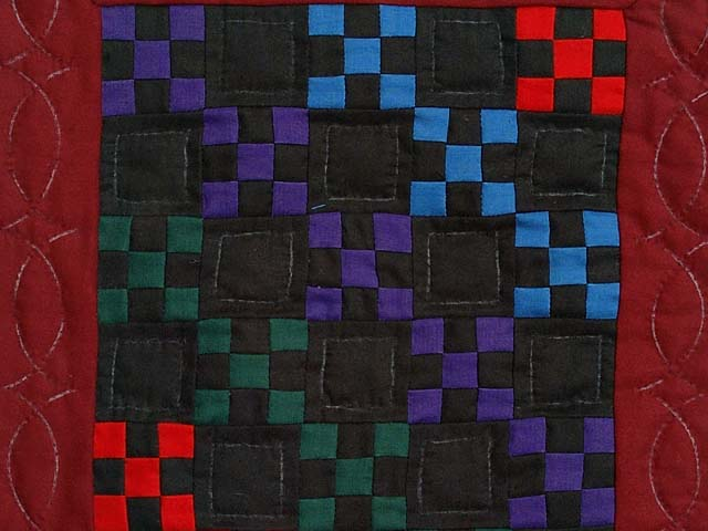 Mini Amish Nine Patch Quilt Photo 2