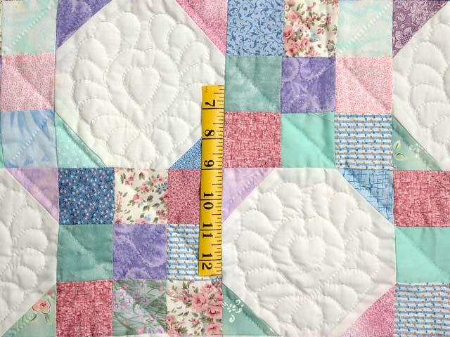 Light Green and Pastel Snowball Crib Quilt Photo 3