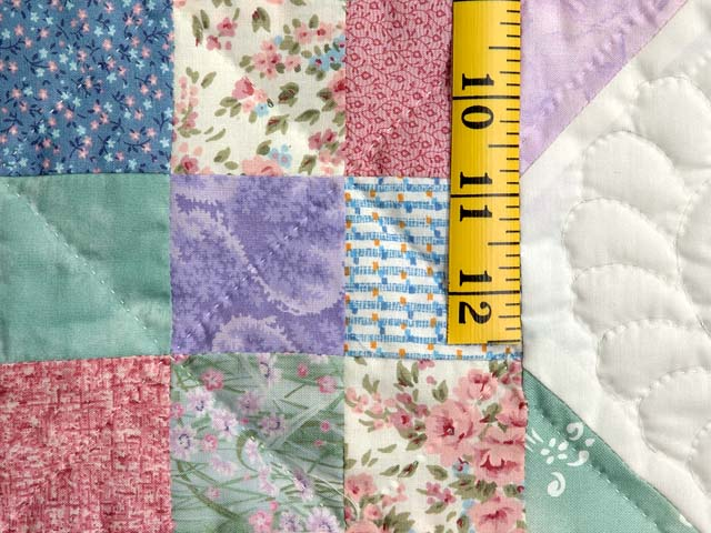 Light Green and Pastel Snowball Crib Quilt Photo 4