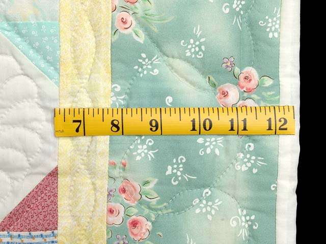 Light Green and Pastel Snowball Crib Quilt Photo 6