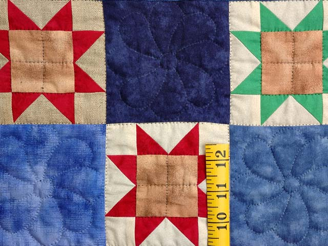 Hand-Dyed Compass Ohio Star Checkerboard Throw Photo 4