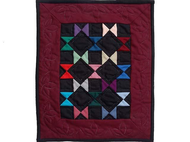 Amish Ohio Stars Miniature Quilt Photo 1