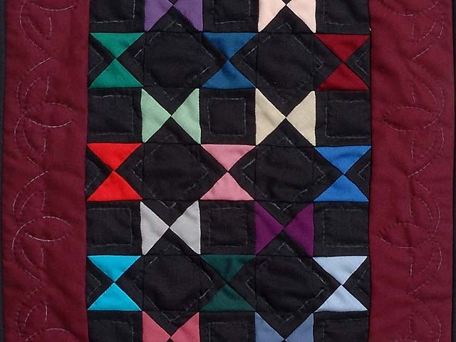 Amish Ohio Stars Miniature Quilt Photo 2