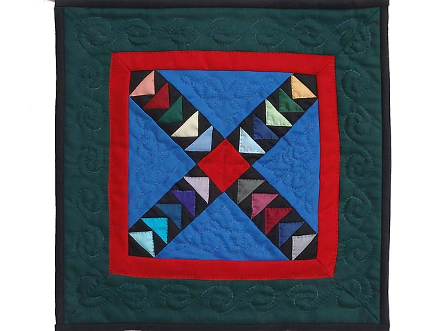 Miniature Crossed Flying Geese Quilt Photo 1