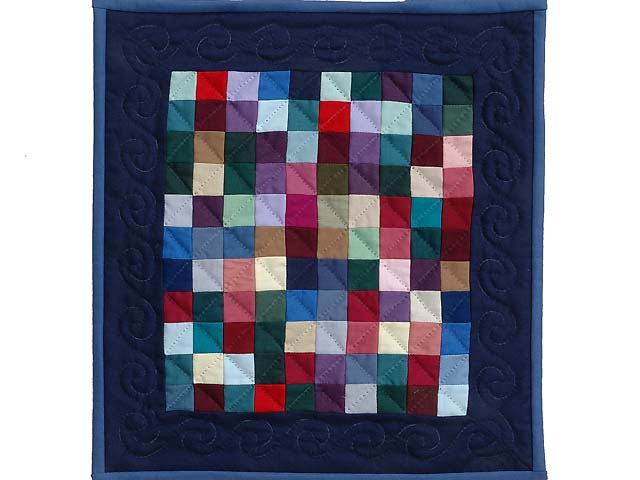 Mini Almost Amish Postage Stamp Quilt Photo 1