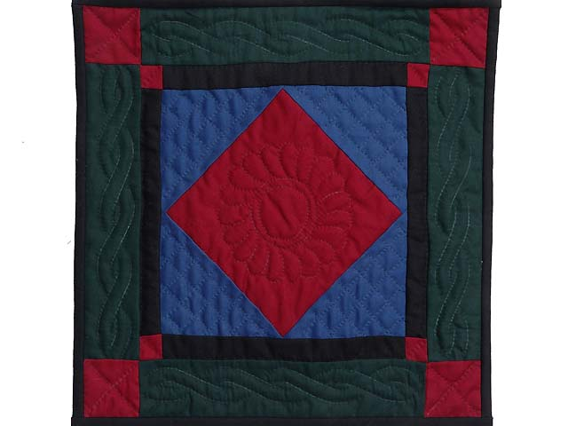 Mini Amish Center Diamond Quilt Photo 1