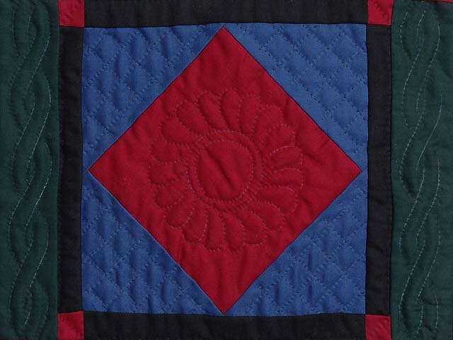 Mini Amish Center Diamond Quilt Photo 2