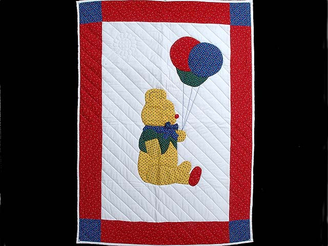 Party Bear Crib Quilt Photo 1