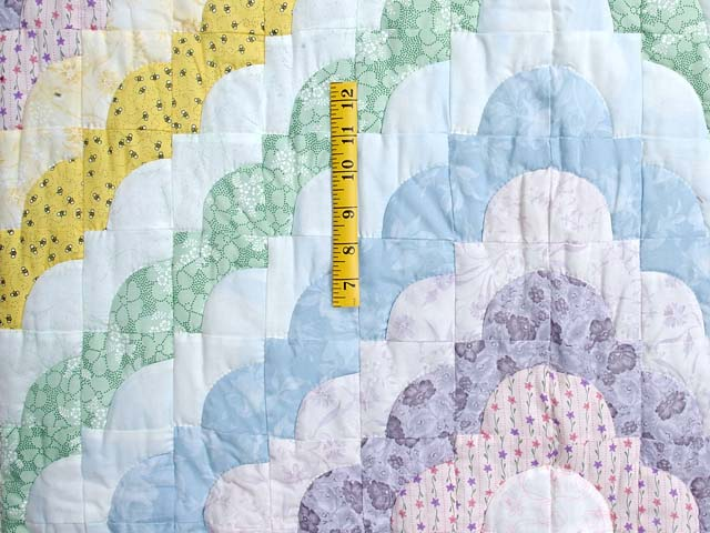 Pastel Pink Lavender and Multicolor Ocean Wave Crib Quilt Photo 3