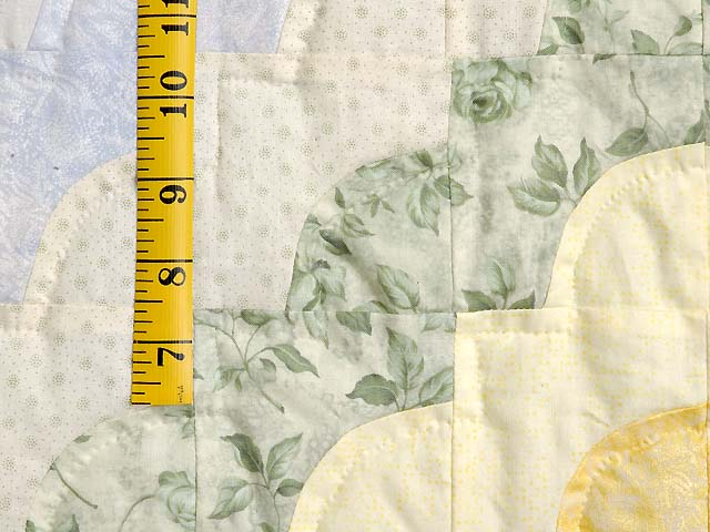 Green Yellow and Multi Ocean Wave Crib Quilt Photo 5