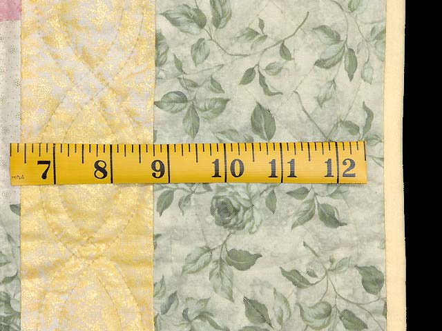 Green Yellow and Multi Ocean Wave Crib Quilt Photo 6