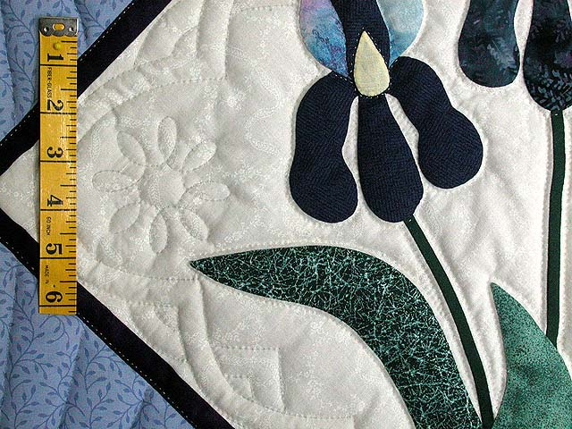 Lavender Iris Applique Wall Hanging Photo 3
