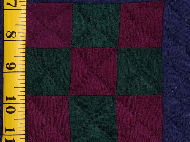 Amish Woolen Nine Patch Wall Hanging Photo 3