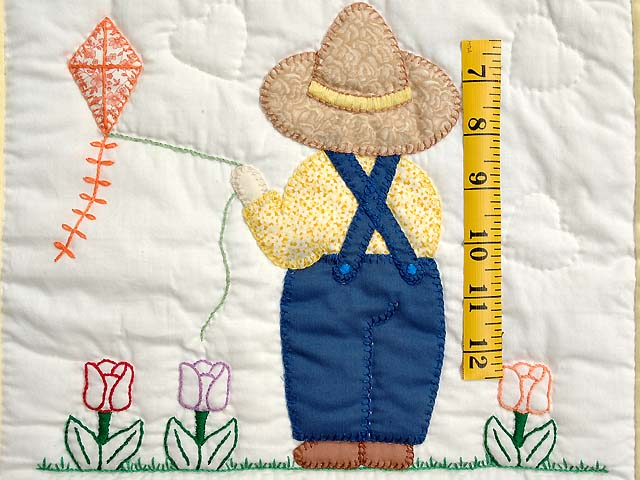 Sunbonnet Sue & Bill Crib Quilt Photo 4