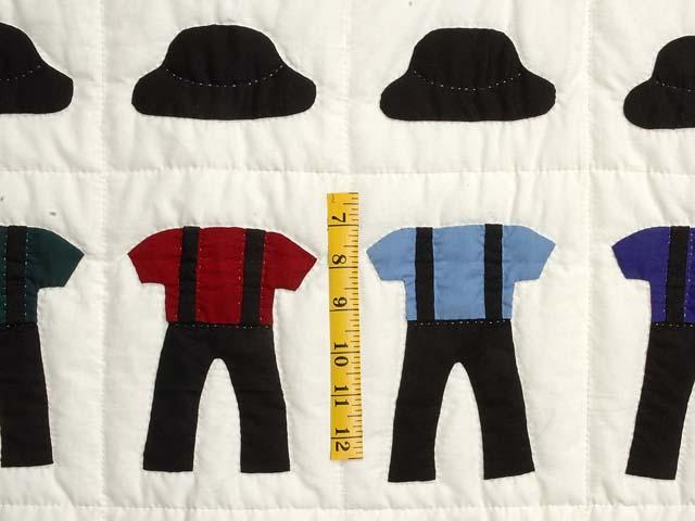 Amish Clothes Crib Quilt Photo 3