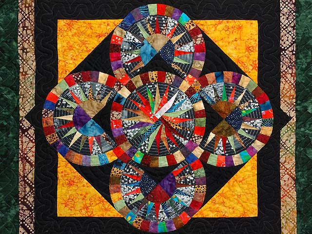 Multicolor Quintuple Compass Star Wall Hanging Photo 2