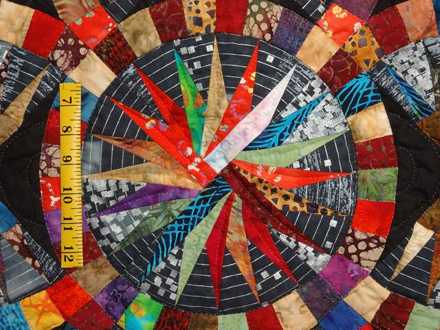 Multicolor Quintuple Compass Star Wall Hanging Photo 4