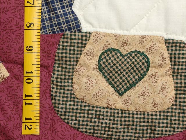 Plaid Burgundy Tan and Green Rocking Horse Crib Quilt Photo 4