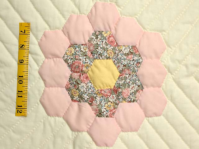 Yellow and Pastels Flower Garden Crib Quilt Photo 3