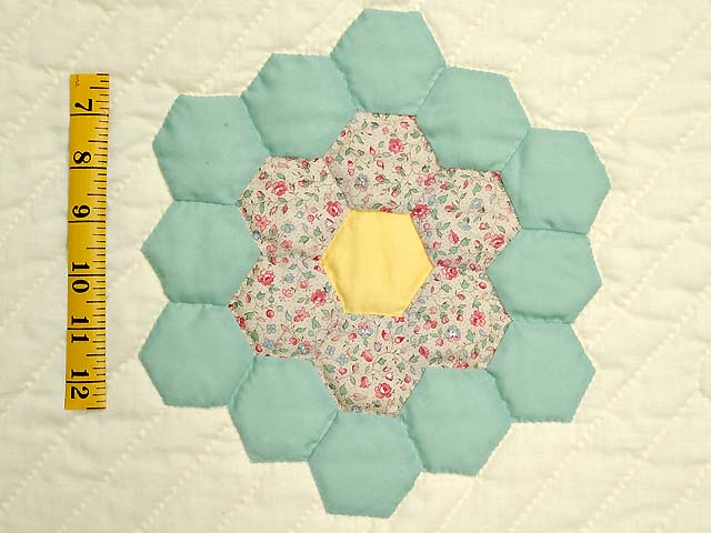 Yellow and Pastels Flower Garden Crib Quilt Photo 4