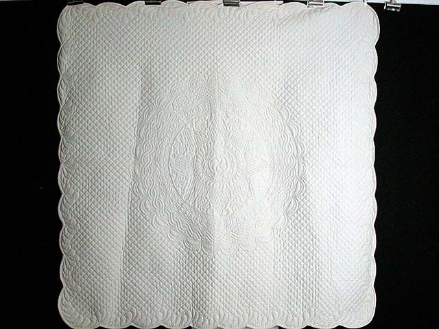 Cream Hershey All-Quilted Throw Photo 1