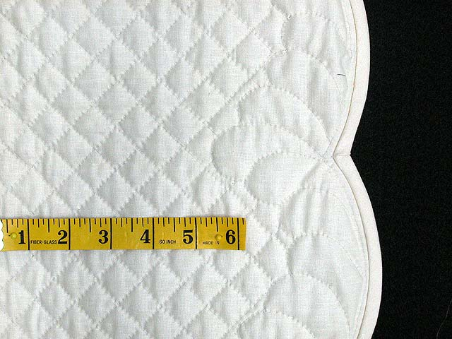 Cream Hershey All-Quilted Throw Photo 3