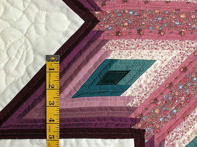 Plum and Teal Log Cabin Star Wall Hanging Photo 3