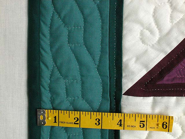 Plum and Teal Log Cabin Star Wall Hanging Photo 5