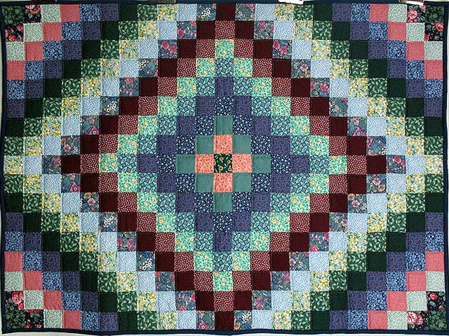 Calico Hit or Miss Crib Quilt Photo 1