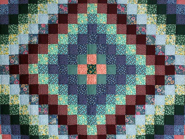 Calico Hit or Miss Crib Quilt Photo 2