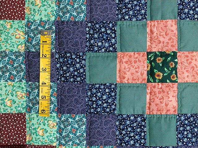 Calico Hit or Miss Crib Quilt Photo 3
