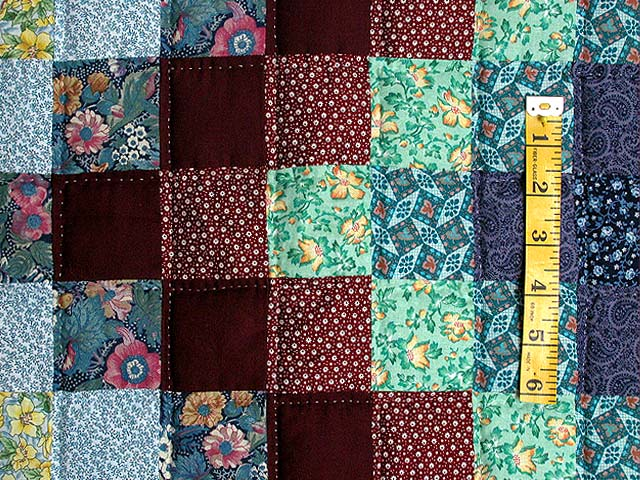 Calico Hit or Miss Crib Quilt Photo 4