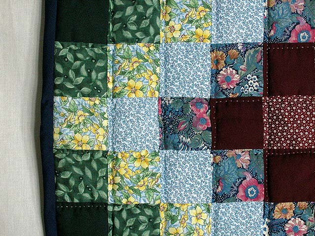 Calico Hit or Miss Crib Quilt Photo 5