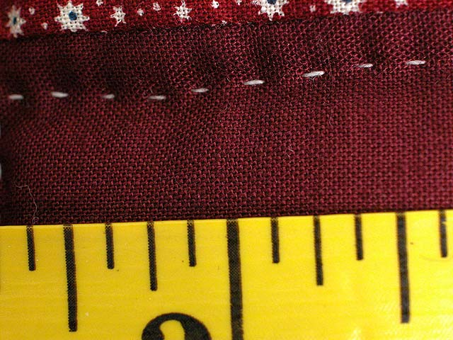 Calico Hit or Miss Crib Quilt Photo 6