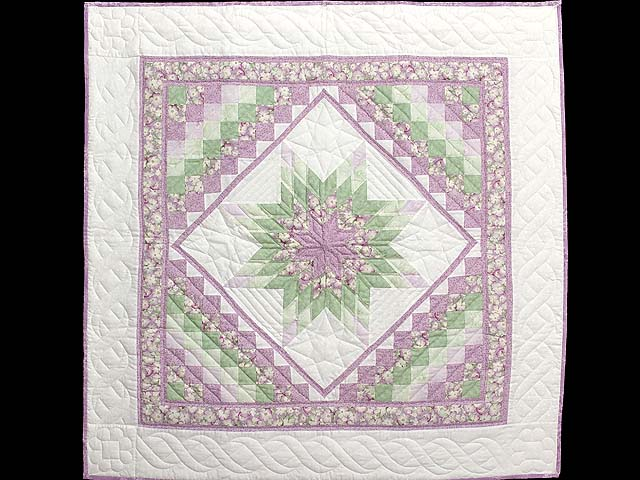 Lavender and Green Lone Star Trip Wall Hanging Photo 1