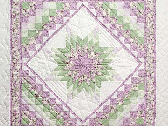 Lavender and Green Lone Star Trip Wall Hanging Photo 2