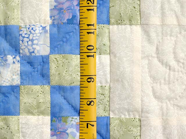 Pastel Blue and Willow Irish Chain Crib Quilt Photo 4