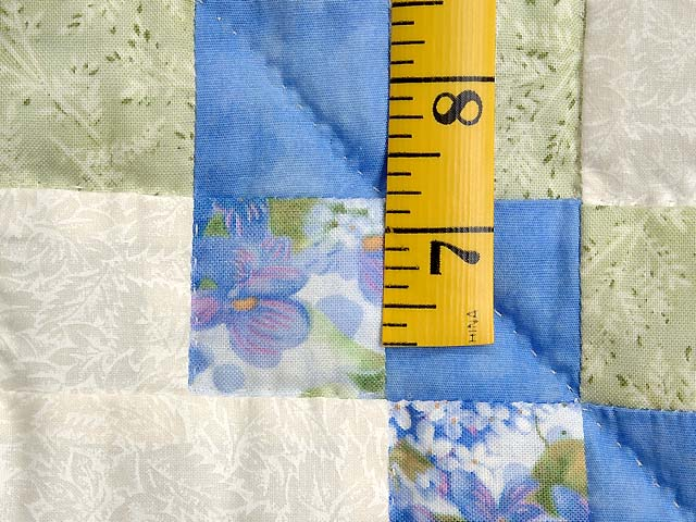 Pastel Blue and Willow Irish Chain Crib Quilt Photo 5