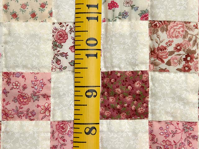 Rosy Pink and Cream Blocks Crib Quilt Photo 4