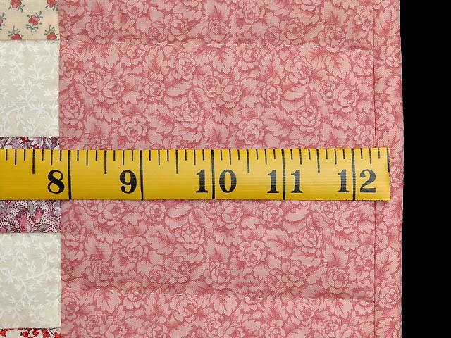Rosy Pink and Cream Blocks Crib Quilt Photo 5