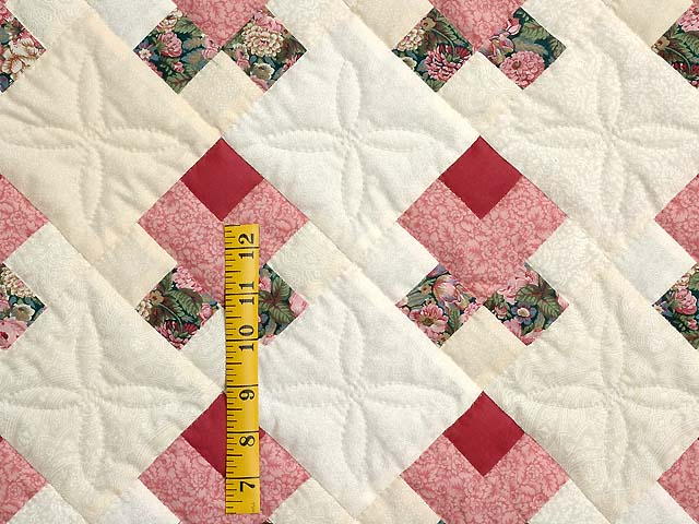 Rosebud Nine Patch Crib Quilt Photo 3