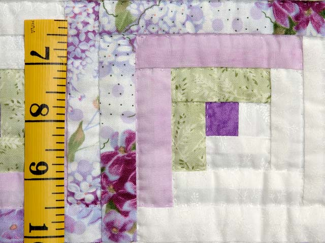 Lilac and Green Log Cabin Crib Quilt Photo 4