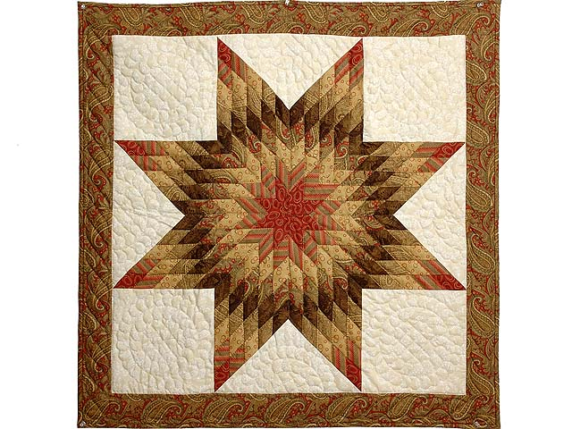 Gold Red and Cream Lone Star Wall Hanging Photo 1