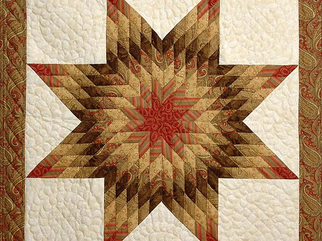 Gold Red and Cream Lone Star Wall Hanging Photo 2