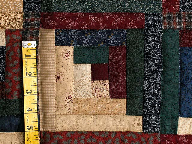 Earth Tones Log Cabin Star Wall Hanging Photo 3