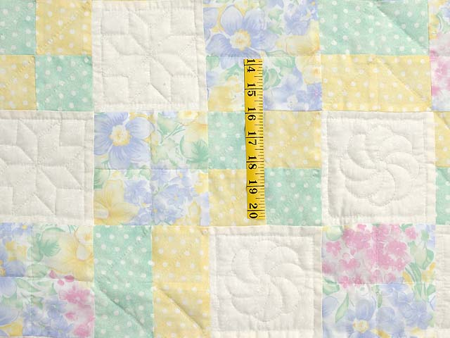 Pastel Four Patch Crib Quilt Photo 3
