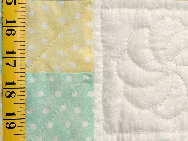 Pastel Four Patch Crib Quilt Photo 4