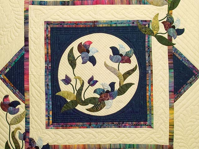 Navy and Multicolor Rainbow Reflections Throw Photo 2